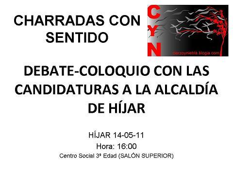 DEBATE COLOQUIO CON LAS CANDIDATURAS A LA ALCALDÍA DE HÍJAR